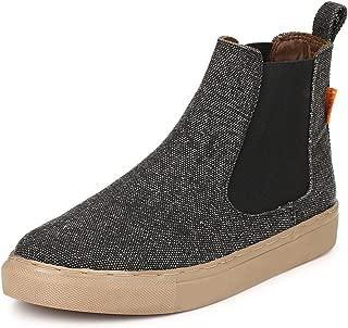 Hirolas Canvas Chelsea Boots - Black