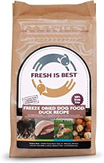 Fresh Is Best Raw Freeze Dried Dog Food (Duck), 8 Ounces