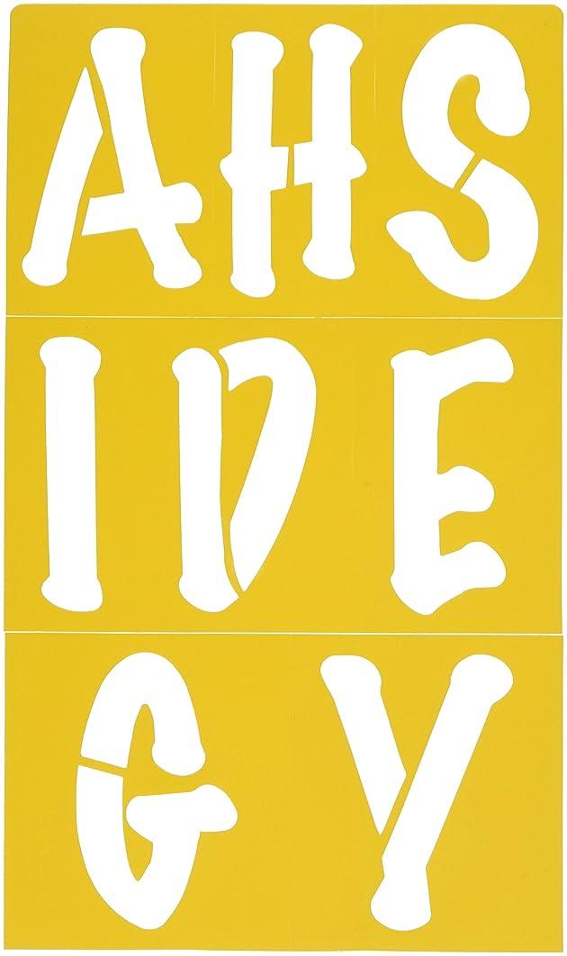 Darice 121728 Upper Case Alphabet Stencils for Posters, 3.5-Inch