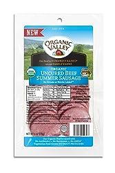 Organic Valley, Organic Uncured Sliced Beef Summer Sausage - 6 oz