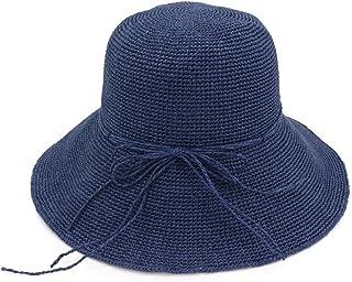 1b0e01efb13 Ruiyue Summer Straw Hats, Spring Summer Hand-Woven Crochet Straw Outdoor  Beach Sun Hats