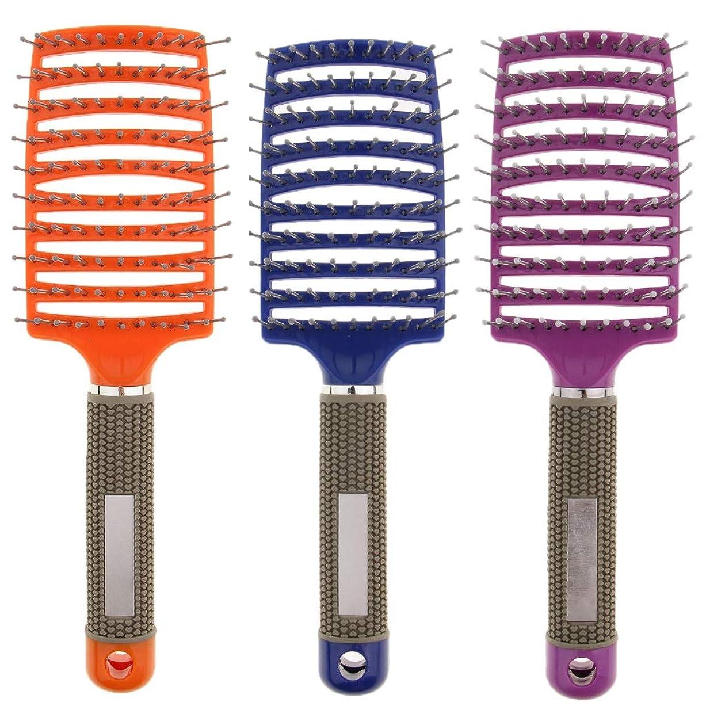 広い事業メディックB Baosity 3本 ヘアコーム マッサージくし ヘアブラシ 通気櫛 コーム 美髪 ヘアサロン 自宅用
