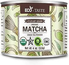 Organic Matcha Green Tea Powder,USDA Organic Certified,Culinary Grade (Perfect for Smoothies, Lattes, Baking,Cake), 4 Ounces