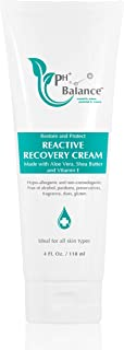 PH BALANCE SKINCARE Reactive Recovery Cream - Treatment For Eczema, Psoriasis, Dermatitis, Acne, Burns, Itching & Redness Of Sensitive Skin - Chemical Free, Fragrance Free Face & Body Cream (4oz)