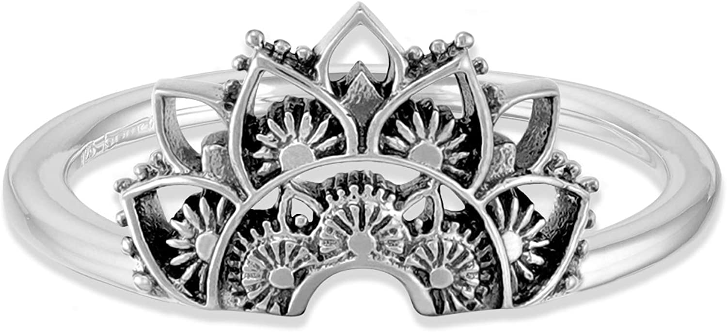 Boma Jewelry Sterling Silver Bali Direct store Lotus Blosso Style Tribal Boho Spring new work