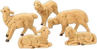 Fontanini Brown Sheep Italian Nativity Village Figurines Set of 5 52539 New