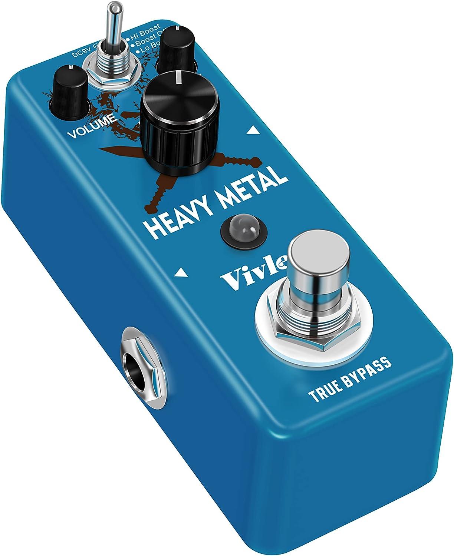 Vivlex LEF-305 Distorsión de metales pesados piedra dura Pedal de efectos para guitarra eléctrica (distorsión de metal)