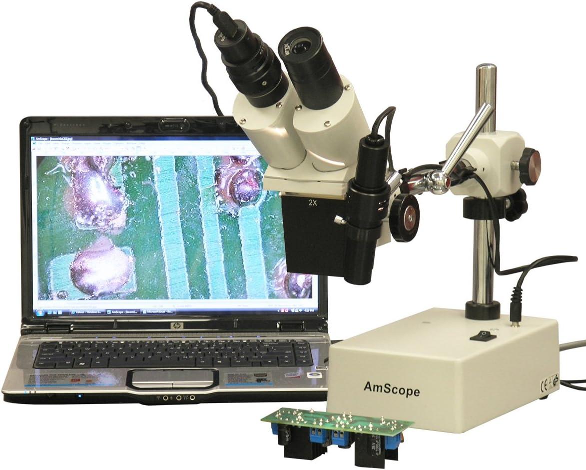 AmScope SE420Z-E Digital 55% OFF Professional Stereo Superior Binocular Microscop