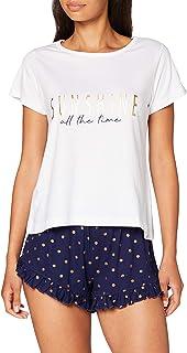Sunshine All The Time Short PJ Set Juego de Pijama para Mujer