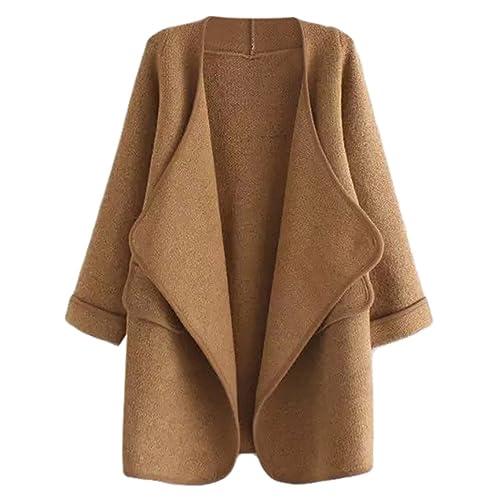 f39494ae23 SheIn Women's Long Cardigan Open Front Sweater Coat