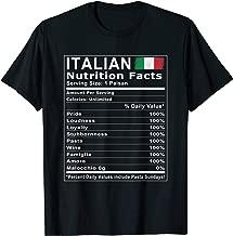 Italian Nutrition Facts T Shirt
