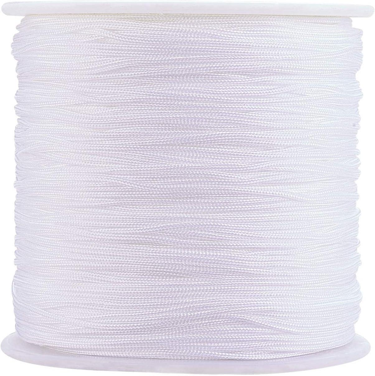 Stiesy White Braided Nylon Thread Ranking TOP9 Chinese Weekly update 0.8mm Macr Knot