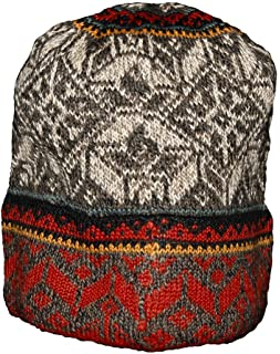 Invisible World Women's 100% Alpaca Wool Hat Knit Unisex Beanie Greta