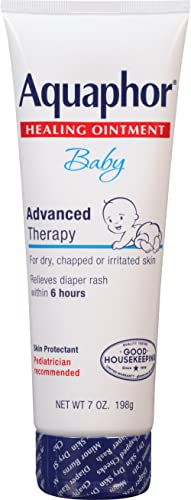 Aquaphor Baby Healing Ointment - for Chapped Skin, Diaper Rash and Minor Scratches - 7 Ounce (Pack of 1)