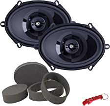 """$100 » Memphis Audio PRX57 5"""" x 7"""" 2-Way Coaxial Car Speakers Bundle with Fast Rings 3-Pc Enhancement Kit. Rings for 5x7 Power Re..."""