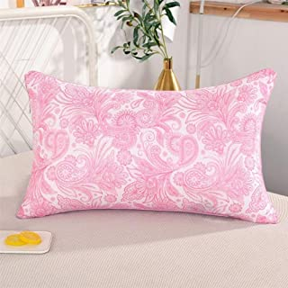 Zoo-yil Lqp-ztuo Almohadas for Dormir (2-Pack) - Down Alternativa Almohada 100% algodón Transpirable Cubierta de Piel-Friendly (Color : Pink)