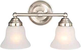 Hampton Bay 612 708 2-Light Vanity-2-Light Brushed Nickel Vanity