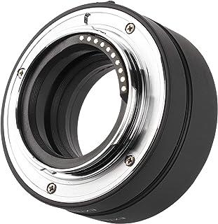KUIDAMOS Rura przedłużająca, 10 mm + 16 mm czarna regulowana średnica autofokusu zestaw rur przedłużających do Fujifilm X‑...
