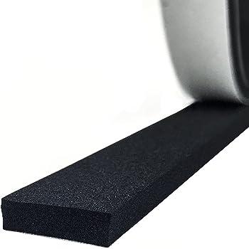 M M Seal A063 tira de neopreno universal para extrusi/ón de burletes 1 cm de alto x 3 cm de ancho Sello de goma con esponja autoadhesiva
