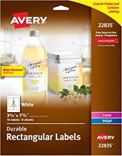 Avery Rectangle Labels for Laser & Inkjet Printers, 3.25