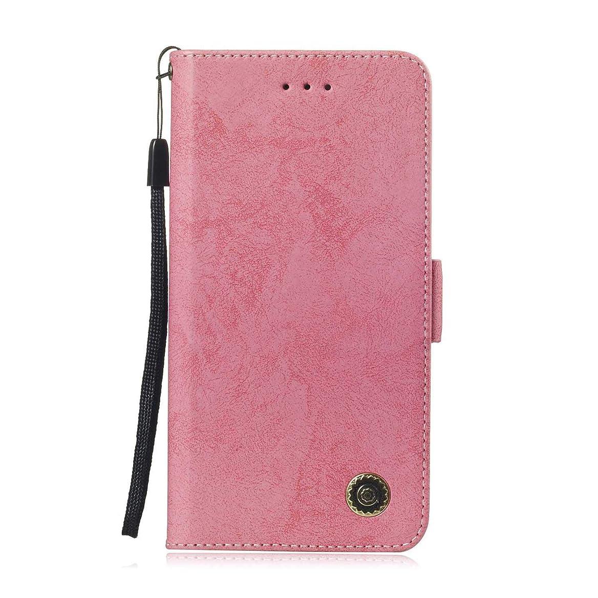 Zeebox? Huawei Honor 8C 手帳型ケース Huawei Honor 8C 手帳型カバー 財布型 合皮PUレザー マグネット式 保護ケース カード収納 スタンド 機能 (ピンク #3)