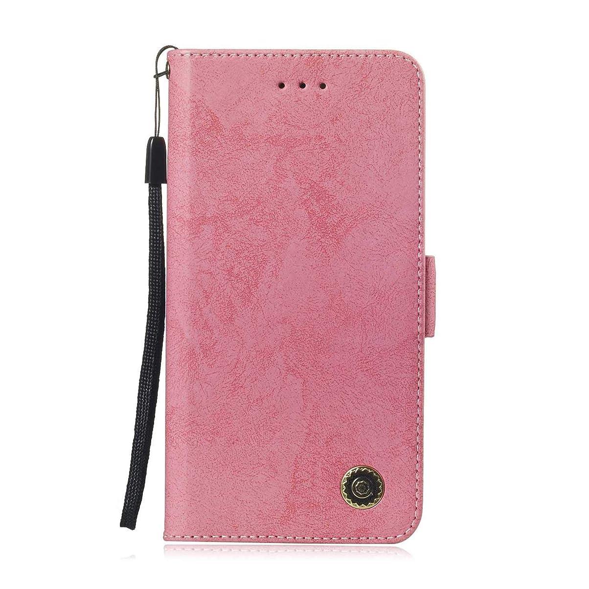 含意絵書店Zeebox? Huawei Honor 8C 手帳型ケース Huawei Honor 8C 手帳型カバー 財布型 合皮PUレザー マグネット式 保護ケース カード収納 スタンド 機能 (ピンク #3)