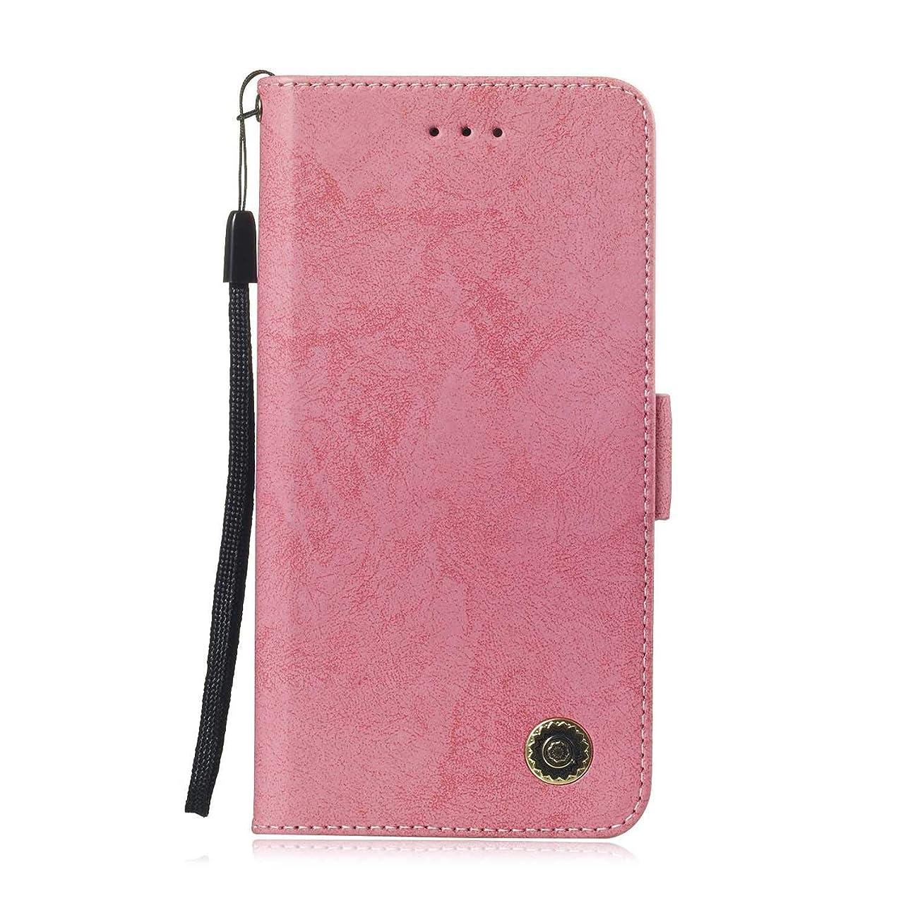 地理はしごアプトZeebox? Huawei Honor 8C 手帳型ケース Huawei Honor 8C 手帳型カバー 財布型 合皮PUレザー マグネット式 保護ケース カード収納 スタンド 機能 (ピンク #3)