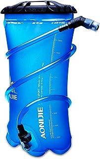 AONIJIE TPU Bolsa de Agua Soft Flask Vejiga de Hidratación Deportivas sin BPA a Prueba de Fugas Ideal para Mochila de Hidr...