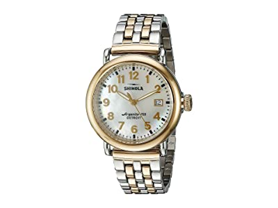 Shinola Detroit The Runwell 36mm 10000237 (White/Stainless Steel/Gold) Watches