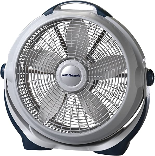 Lasko 3300 20 Wind Machine Fan With 3 Energy Efficient Speeds Features Pivoting Head For Directional Air Flow