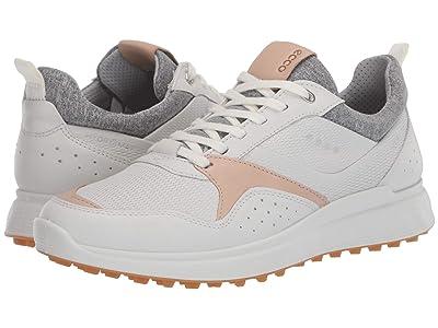 ECCO Golf Golf S-Casual Hydromax (White/Oak) Men