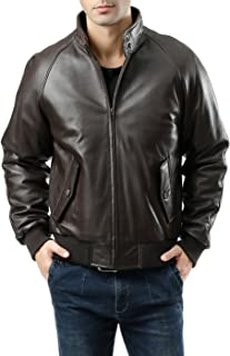 Men's WWII Lambskin Leather Bomber Jacket (Regular and Big & Tall Sizes)
