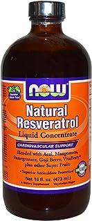 Now Foods Natural Resveratrol Liquid, Mega Potency, 16 Ounce