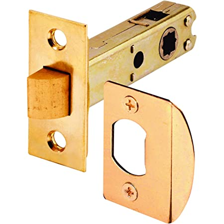 Prime Line Products E 2281 Passage Door Latch 9 32 In 5 16 In Square Drive Steel Brass Finish Screen Door Hardware