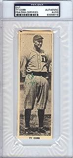 Ty Cobb Autographed 2x6 Newspaper Page Photo Detroit Tigers PSA/DNA #83908416