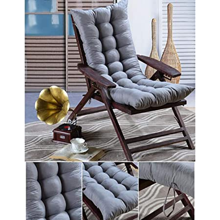 Uheng Indoor Outdoor Furniture Patio High Seat Back Chair Cushion for Rocking Chair with 6 Ties,Wein Red,155 8cm 48