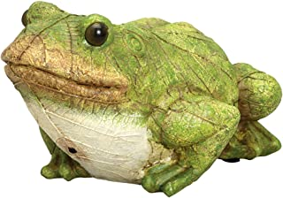 Bits and Pieces – Frog Motion Sensor Statue – Weather Resistant, Hand-Painted..