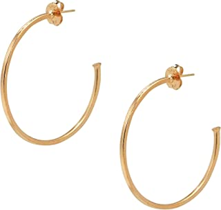 Sheila Fajl Perfect Hoop Earrings in Brush Rose Gold Plated