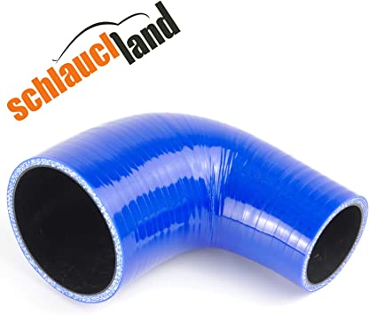 90 Silikon Reduzierbogen Id 90 64mm Blau Silikonschlauch Silikon Reduzierer Turbo Auto