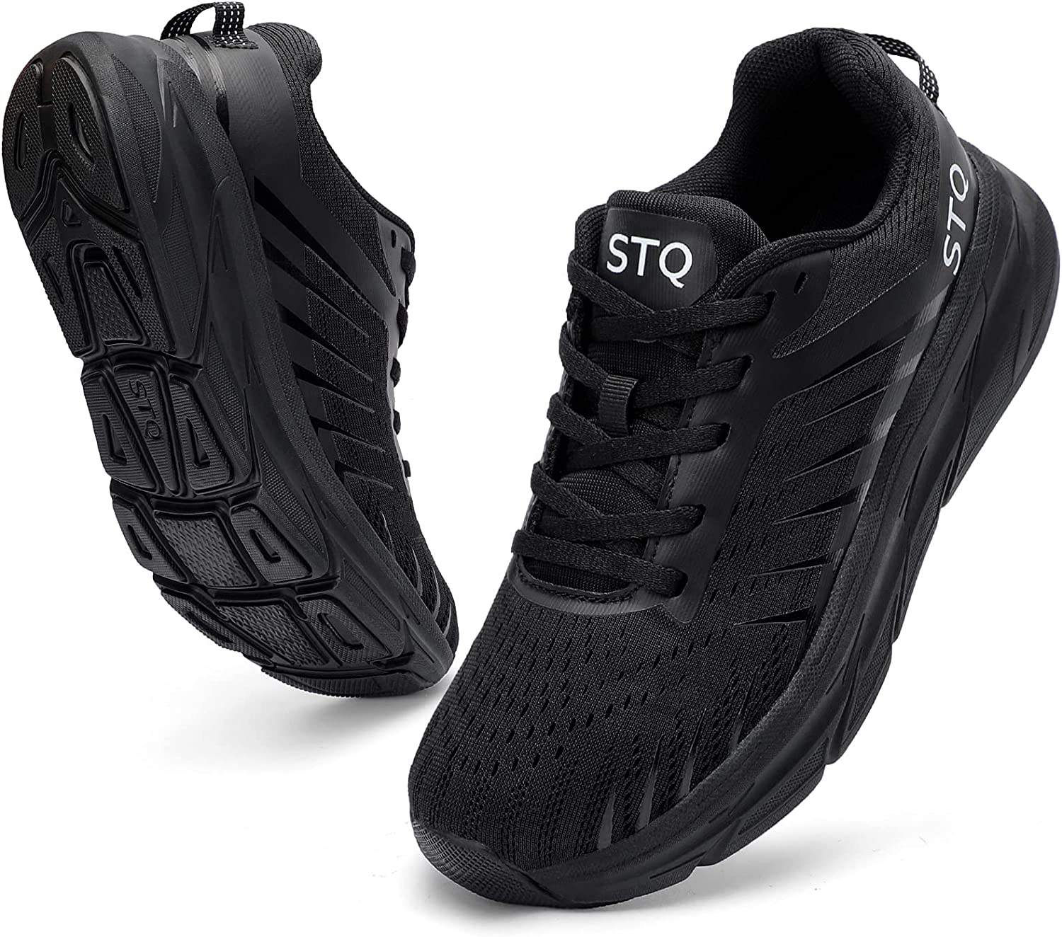 STQ Running Shoes for Women Cushion Breathable Tennis Sneakers w