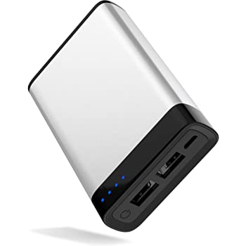 Portable Charger Power Bank Battery - by TalkWorks | 6000 mAh | Cell Phone Backup External Dual USB Power Pack for Apple iPhone 11, XR, XS, X, 8, 7, 6, iPad & Android for Samsung Galaxy - Silver