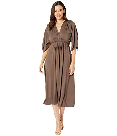 Rachel Pally Jersey Mid-Length Caftan Dress (Cocoa) Women