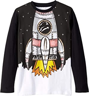 Boy's Space Shuttle Long Sleeve T-Shirt (Toddler/Little Kids/Big Kids) Black 4T (Toddler)