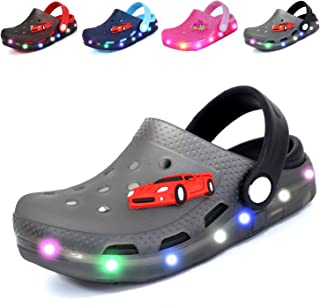 Kids Cute LED Flash Lighted Garden Shoes Clogs Sandals Children Boys Girls Toddlers Summer Breathable Slippers