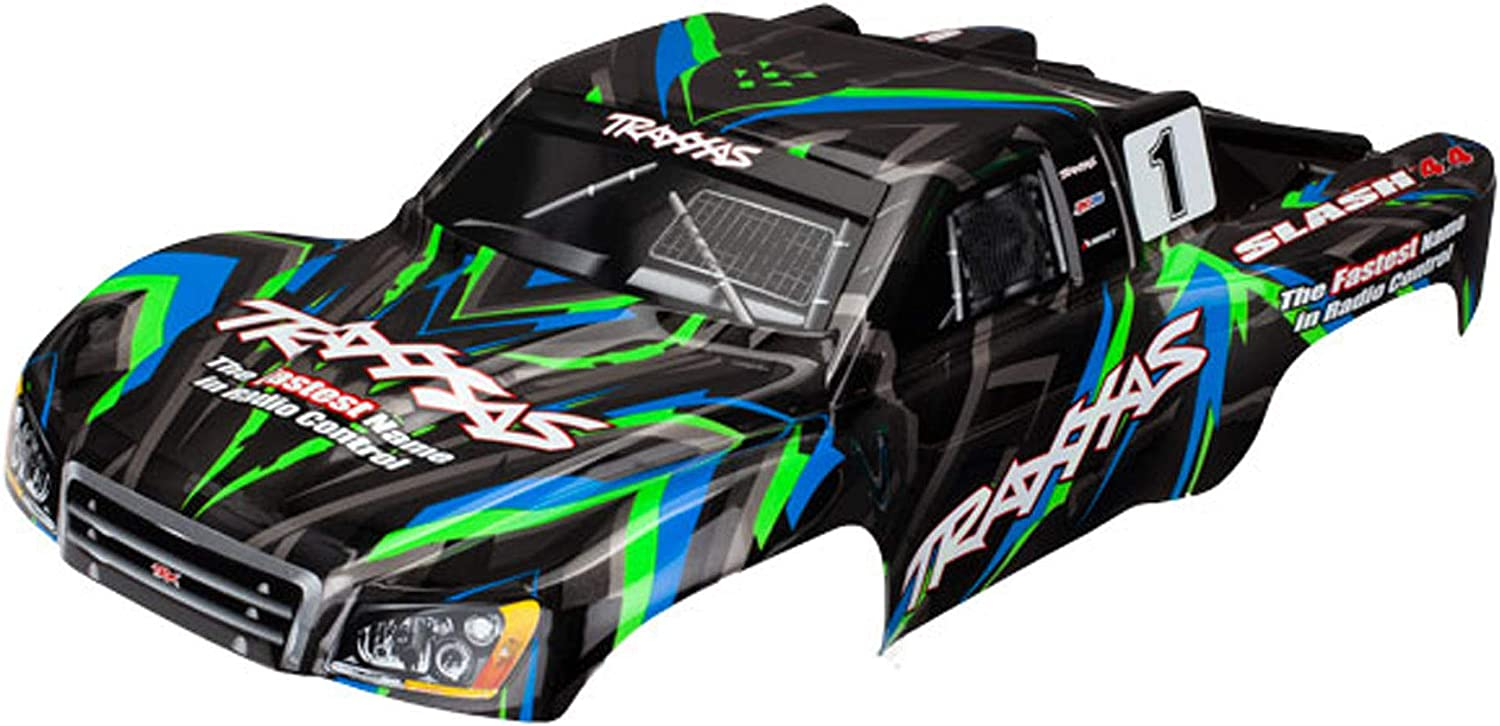 Traxxas Max 76% OFF Max 75% OFF TRA6816G Body Slash 4X4 Applied Decals Painted Green