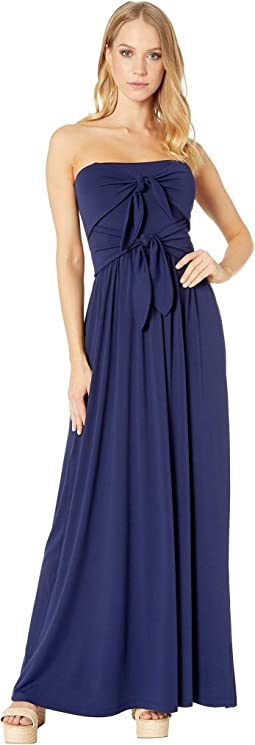 Tie Front Strapless Dress