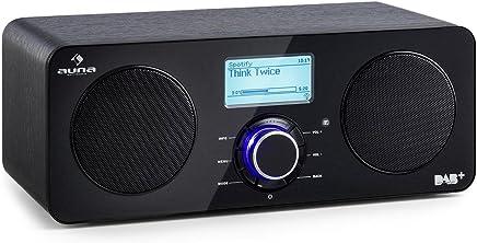 Auna Worldwide Stereo • Radio Internet Wireless • Spotify Connect • App Control • Dab/Dab+ & UKW-RDS e AM/FM • Telecomando Incluso • Display LCD • Funzione Sveglia • RDS • AUX • Nero