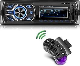 KYG Autoradio Bluetooth Stereo con RDS Supporta FM/AM/USB/AUX/MP3/WMA/WAV/SD, Display LCD, Capacità per 18 Stazioni Radio, con Telecomando, 1DIN