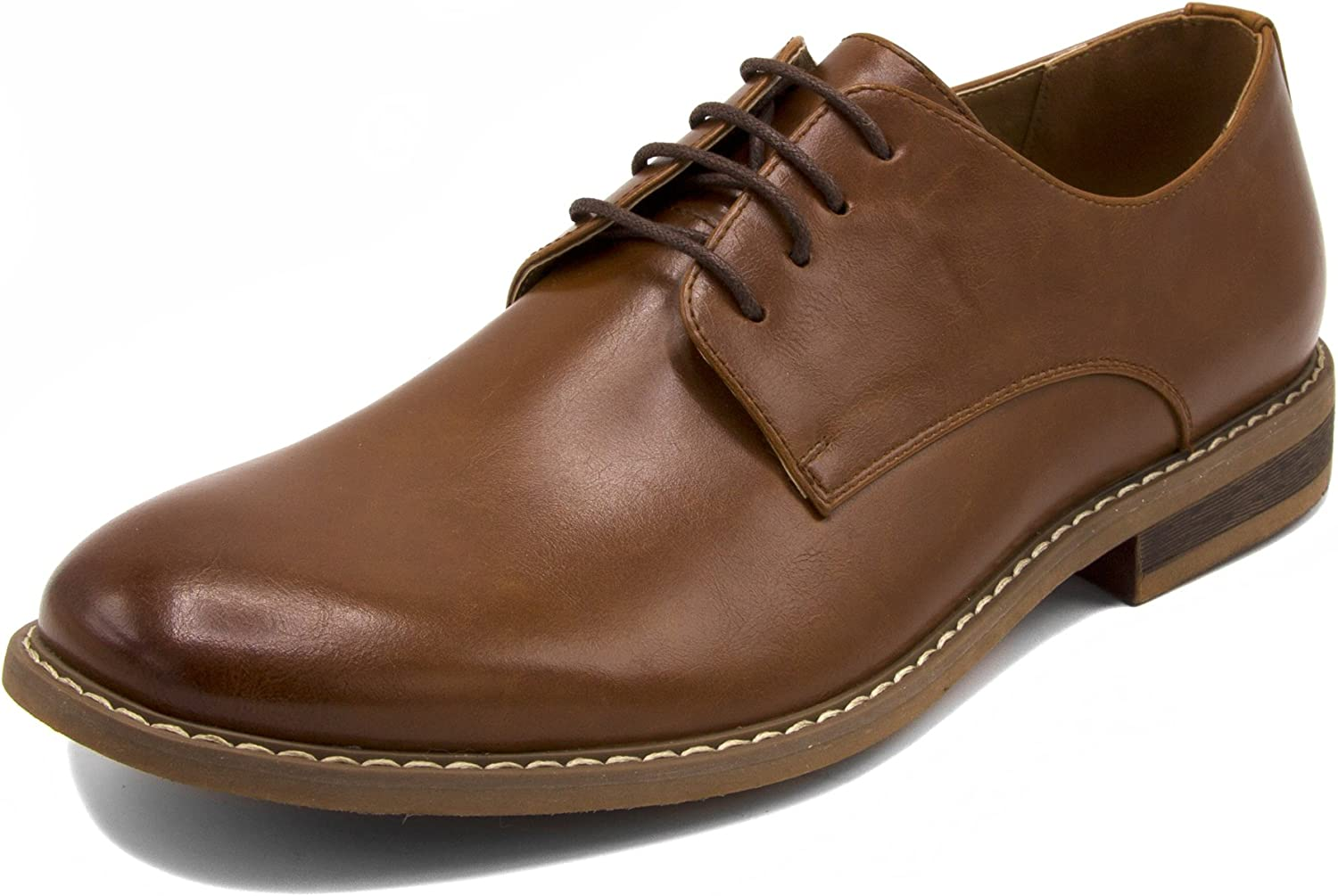 Nautica Men's Dress Shoes, Lace Up Oxford, Slip On Moc Toe Loafer-Harbor-Tan Smooth-7.5