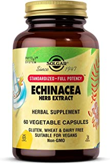 Solgar - Standardized Full Potency Echinacea Herb Extract, 60 Vegetable Capsules